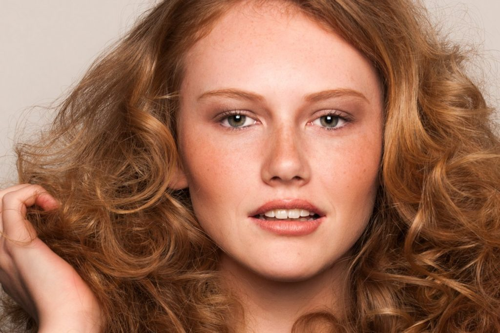 Female model with red hair